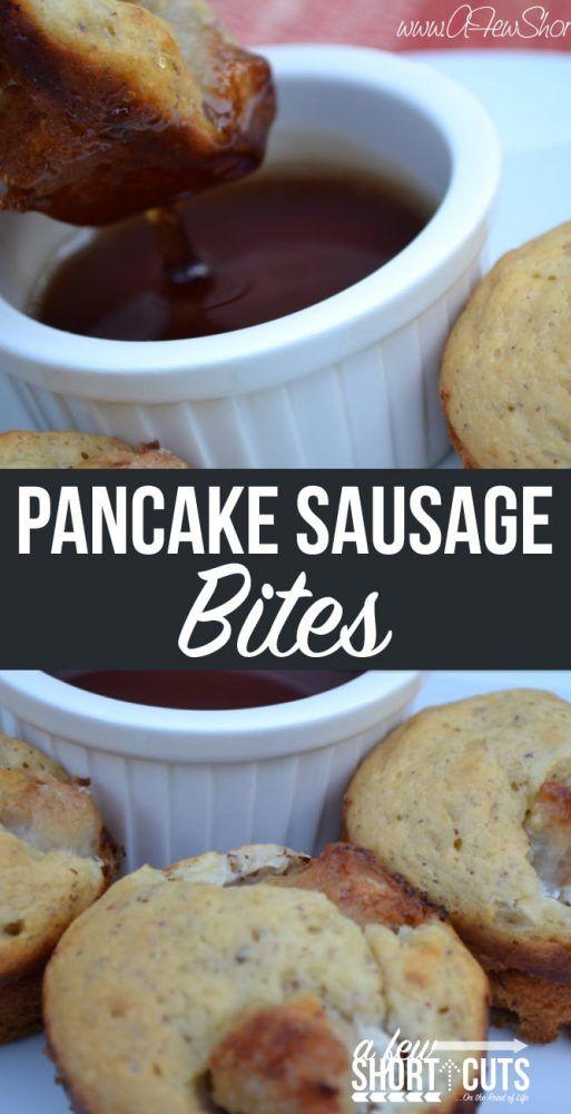 Pancake Sausage Bites - A Few Shortcuts
