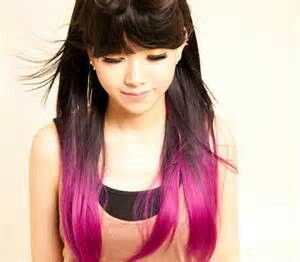 Bottom half dyed hair color. | Hair that I like! | Pinterest | Half ...