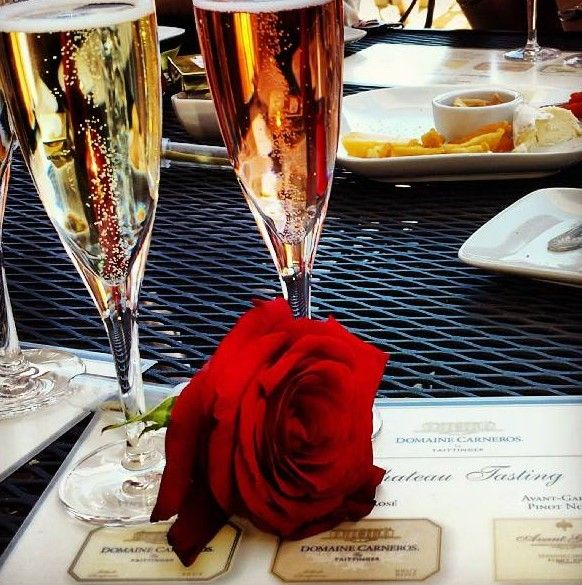Feb 14, 2014 - Share the Love Valentine's Dinner & Dance at Domaine Carneros in #NapaValley #WineCountry #romance #valentinesday #winetasting #sparklingwine