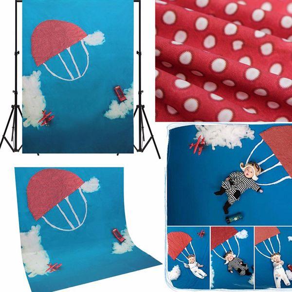 Niños nube paracaídas de la fotografía del bebé fondo apoyos estudio ...