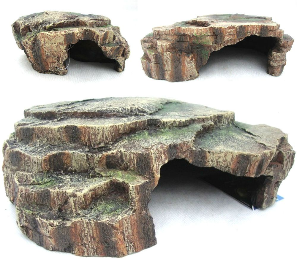Vivarium reptile rock aquarium fish cave ornament terrarium