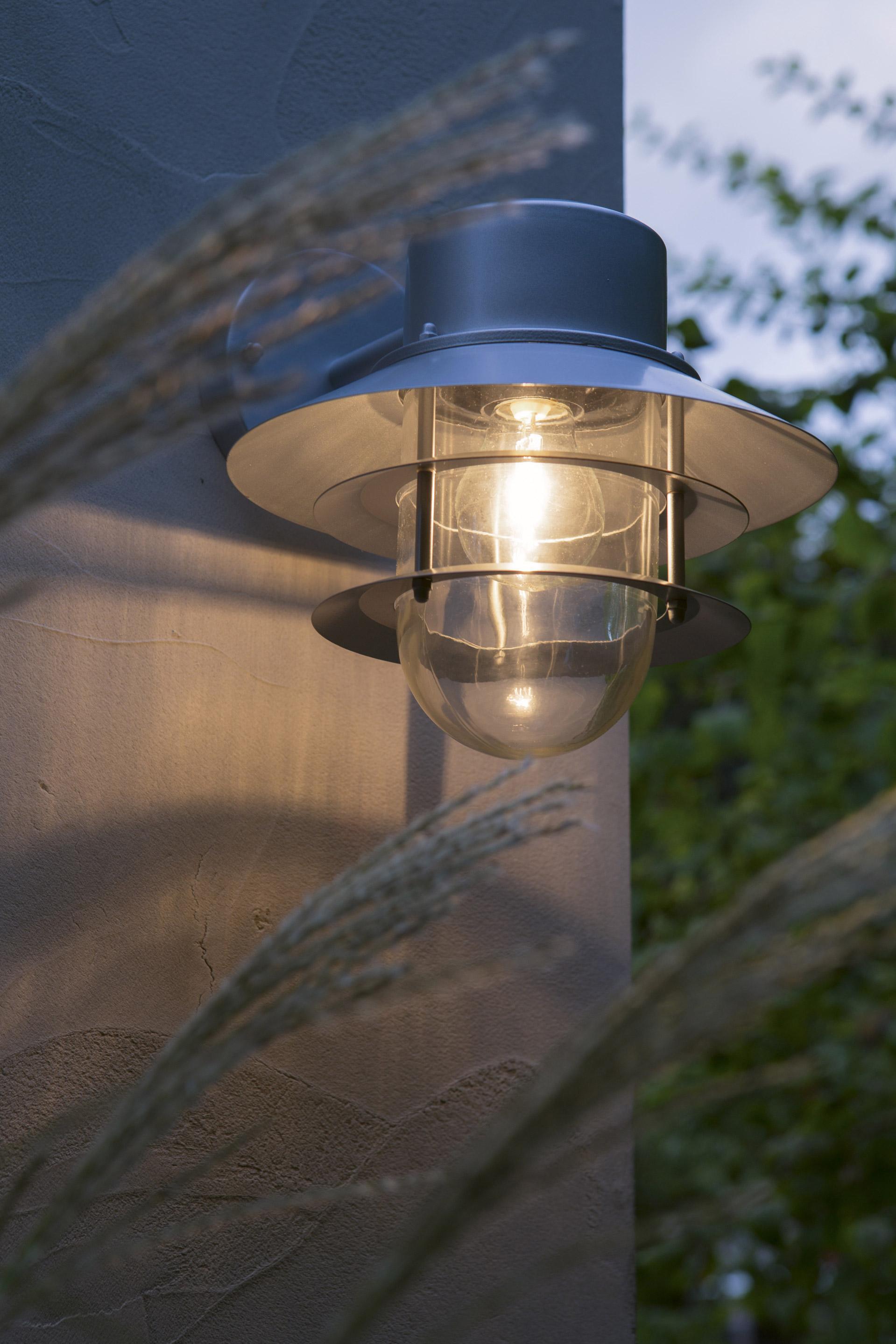Applique Descendante Exterieure E27 Max 60w Inox Copenhagen Elstead Eclairage Exterieur Eclairage Terrasse Luminaire Exterieur