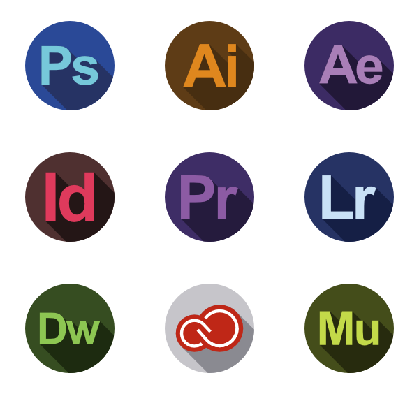 Adobe Logos Icons Free Pack In 2020 Logo Icons Icon Design Icon