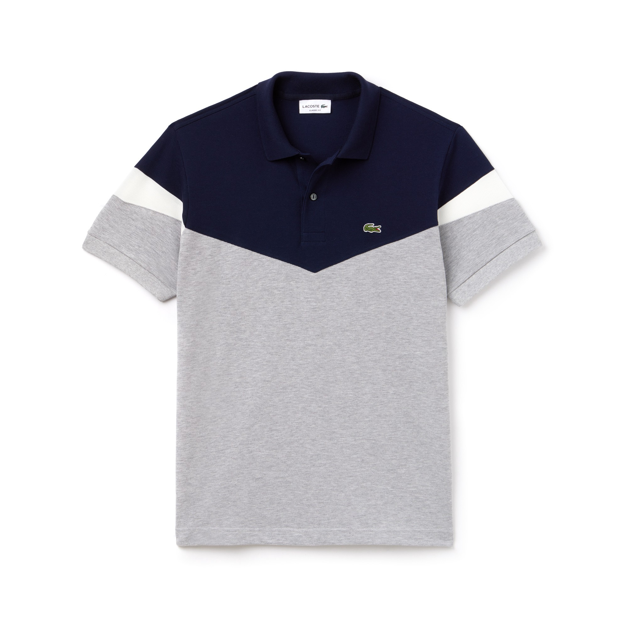 9c368d36 Lacoste Men's Classic Fit Colorblock Cotton Petit Piqué Polo - Navy Blue/ Black-Flour L 5 Green