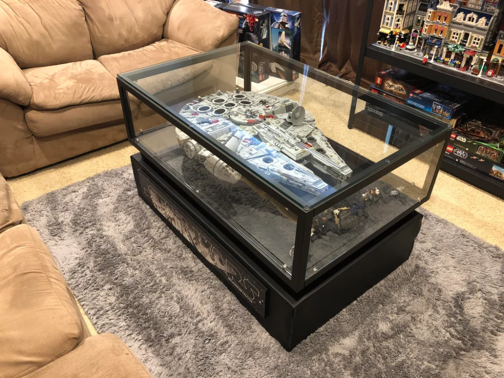 Finished My Falcon Coffee Table Lego Lego Display Case Display Coffee Table Coffee Table Display Case