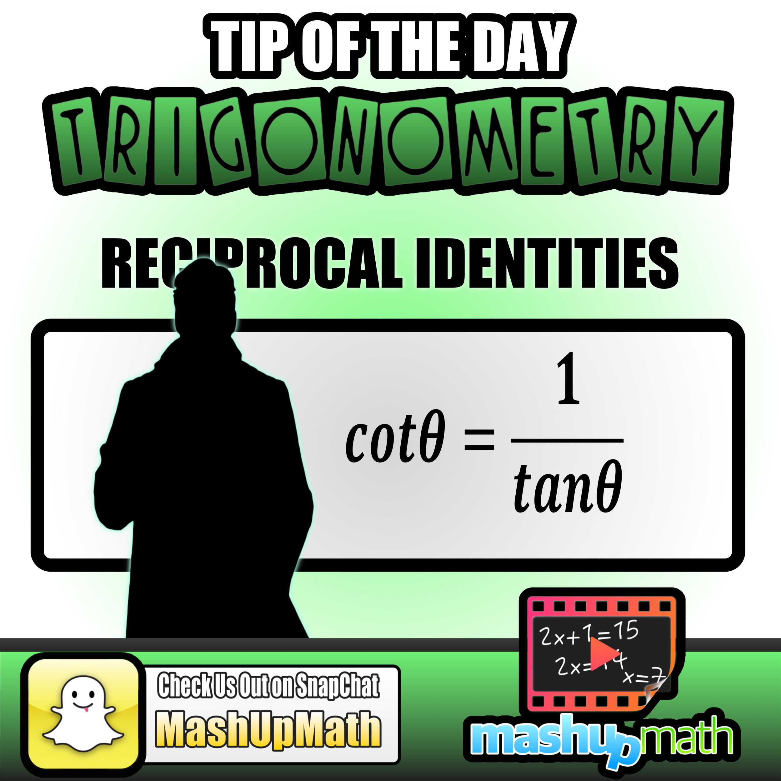 Do You Know The Reciprocal Identities For The Trig Functions Catch All Of Our Daily Math Tips By Follo Education Math Daily Math Education Quotes For Teachers [ 2499 x 2499 Pixel ]