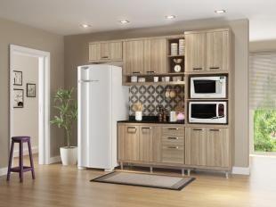 Sua Cozinha de Cara Nova com a Cozinha Compacta Multimóveis Sicilia - com Balcão 9 Portas 3 Gavetas