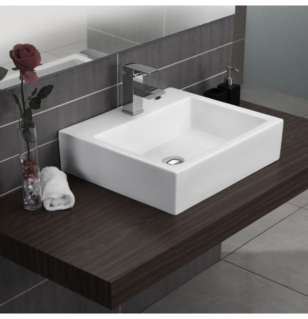 Soncera Square Table Top Basin Of 525 X 465 In White Basin