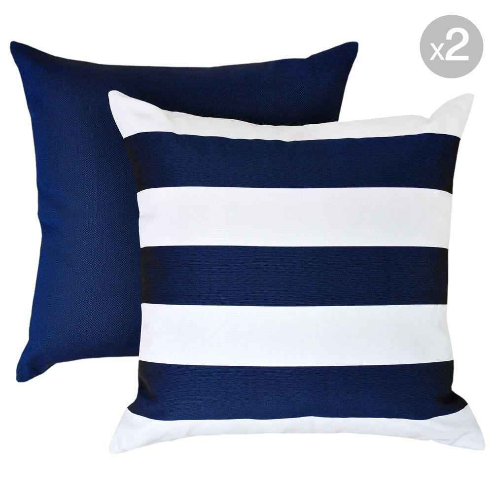 Kona Navy Mallacoota Marine Navy Outdoor Cushions 45x45cm