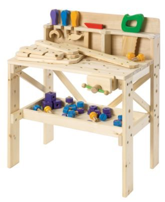 Treehaus Kids Toy Kids Wood Workbench Kids Macy S Wooden Work Bench Kids Wood Wood Toys