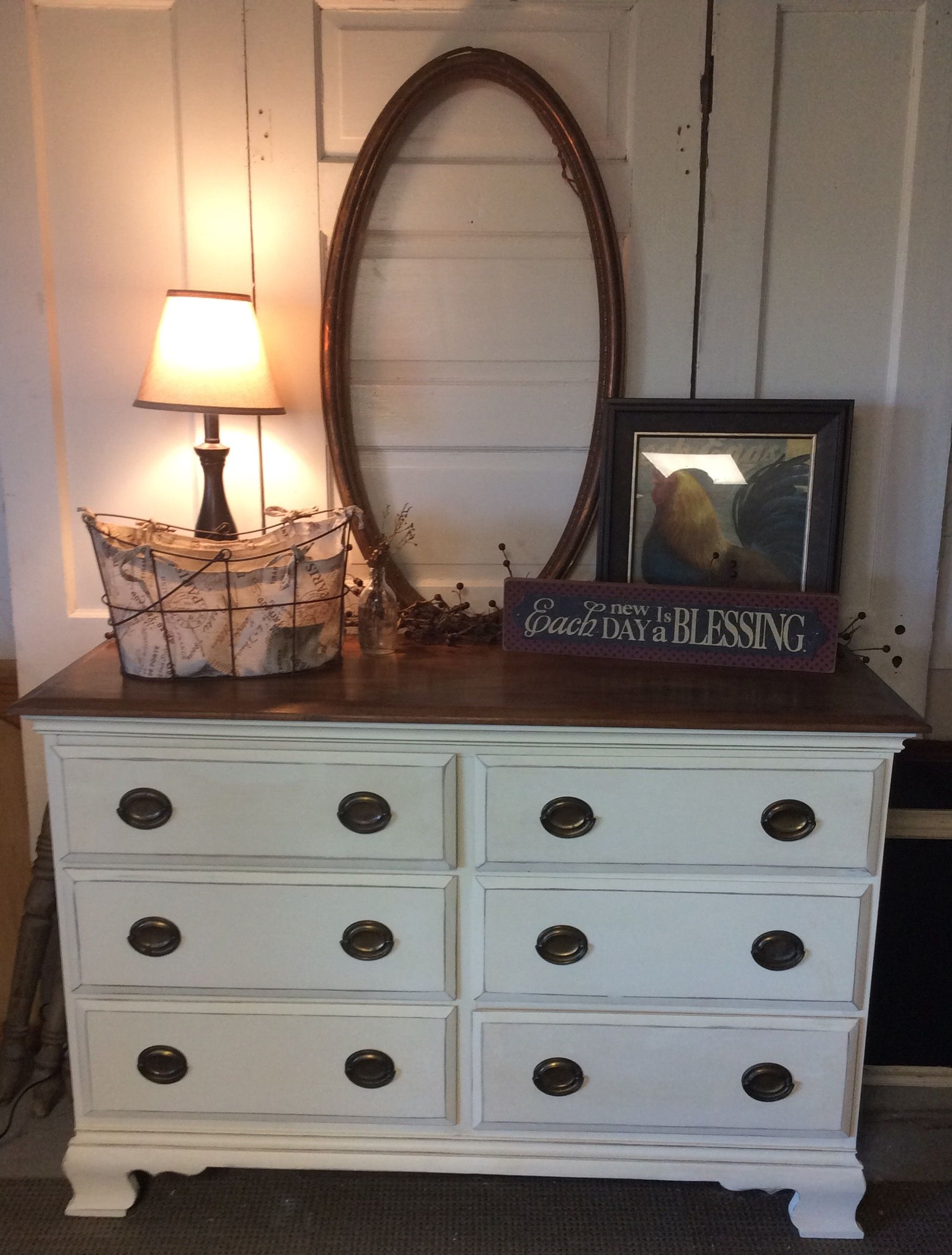 Beautiful Antique Dresser Painted In Chiffon Cream Chalk Paint By Nathan Bridges Neutral Decor Home Decor Woodworking Projects