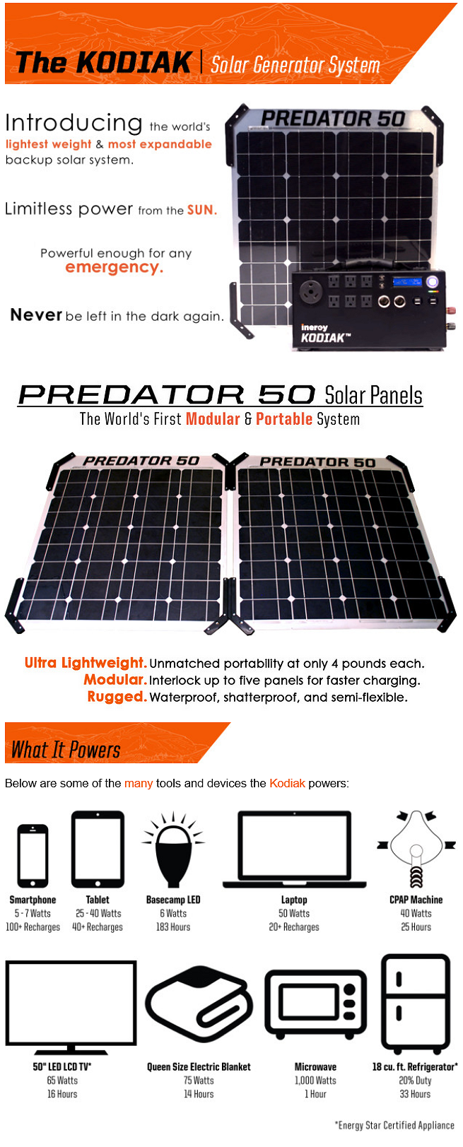 The Kodiak Off Grid Home Solar System In A Box It S The World S Lightest Weight Most Expanda Solar Panels Advantages Of Solar Energy Solar Panel Technology