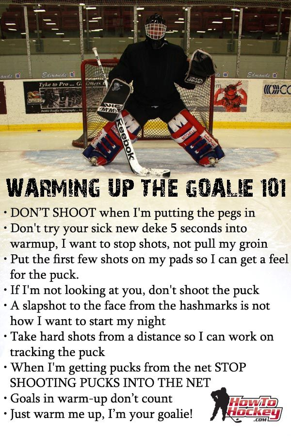 Rules For Warming Up Your Goalie This Is Very Important Hockey
