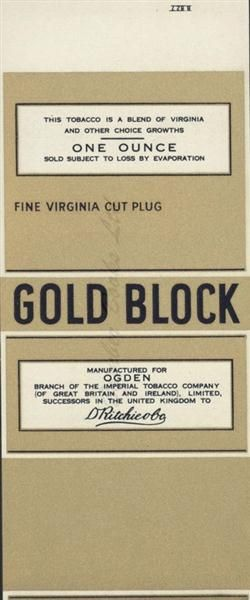 Old Shop Stuff   Old-advertising-ephemera-printers-blank-Ogden-Gold-Block for sale (19511)