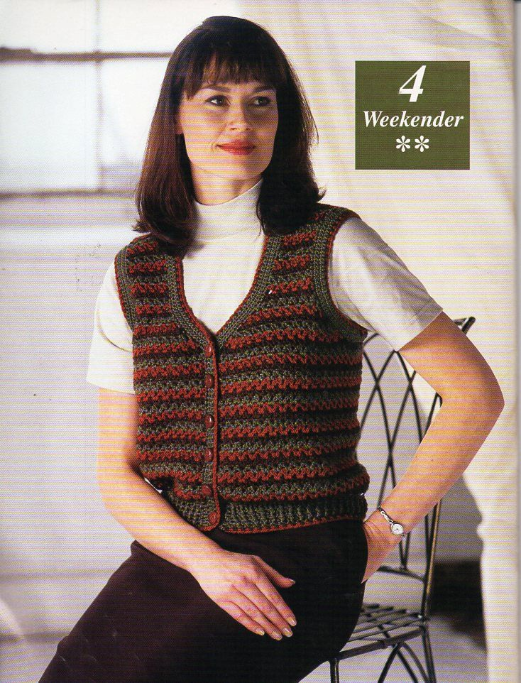 Womens Crochet Waistcoat Crochet Pattern Pdf Ladies Crochet Vest