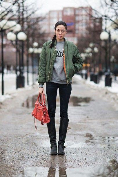 bomber jacket street style - Pesquisa Google | B O M B E R ...