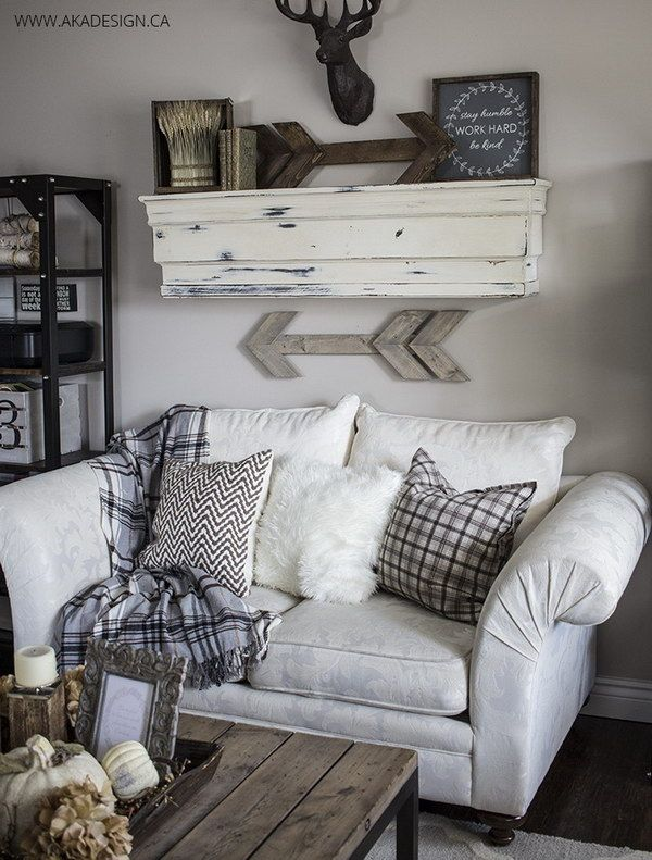 Rustic Wooden Arrows And Signs Living Room Decor Rustic Rustic Living Room Fall Living Room #rustic #signs #for #living #room