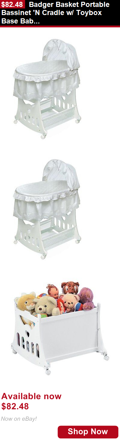 Charmant Bassinets And Cradles: Badger Basket Portable Bassinet N Cradle W/ Toybox  Base Baby Nursery
