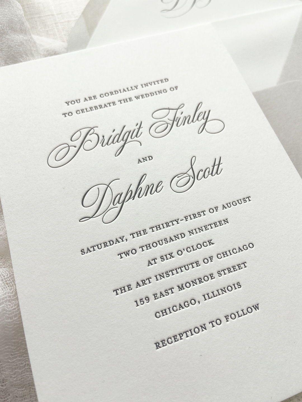 Letterpress Wedding Invitation In 2020 Custom Wedding Stationery Letterpress Wedding Invitations Letterpress Wedding