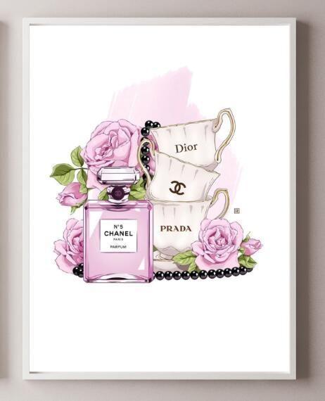 Modern Perfume Bottle Wall Art No Frame Chanel Wall Art Perfume Art Chanel Wallpapers