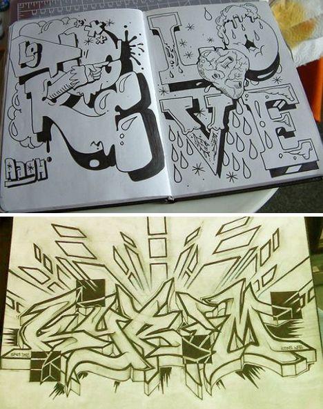 Graffiti Kleurplaten Cool.Graffiti Lettering Cool Characters Alphabets Graffiti
