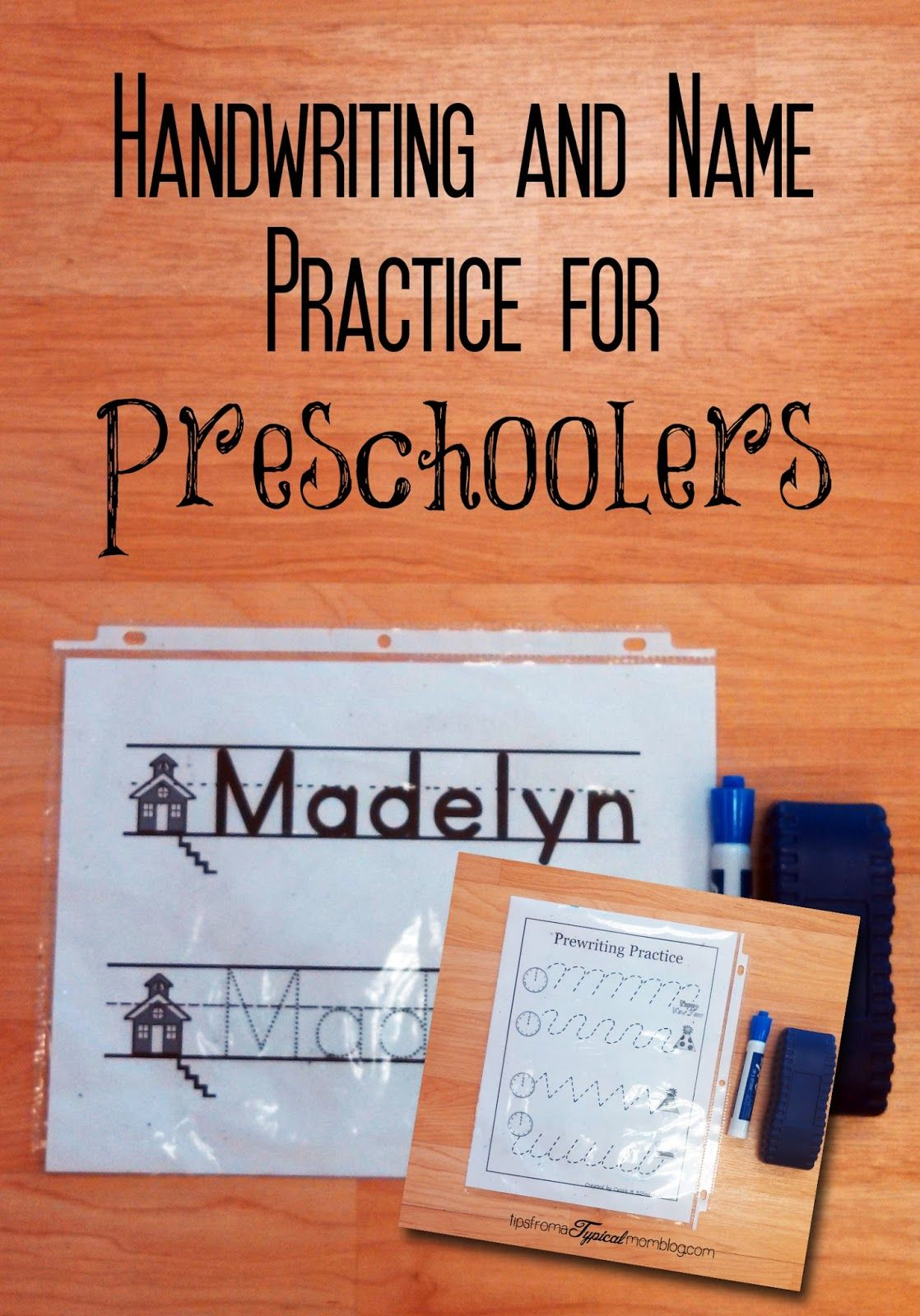 name practice and handwriting papers for preschool makes
