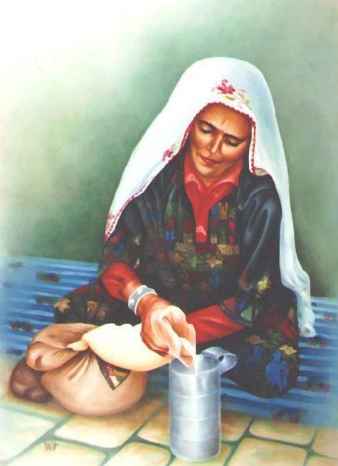 بائعه اللبن الفنان صلاح الاطرش Arabian Art Iranian Art