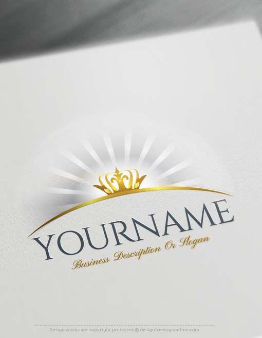 Free Logo Creator Glowing Crown Logo Design Online Free Logo Creator Online Logo Design Logo Design