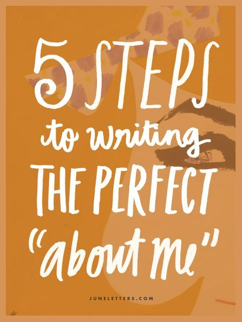 "Writing A Professional Profile 5 Steps To Writing The Perfect ""About Me"" Bio  Blogging  Pinterest ."
