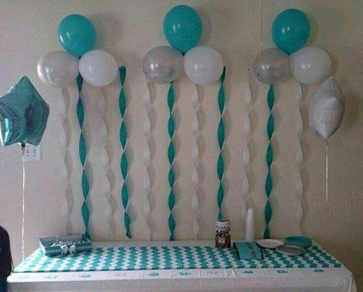 Pin De Celeste Torres En Festas Boy Baby Shower Ideas Globos Baby Diy