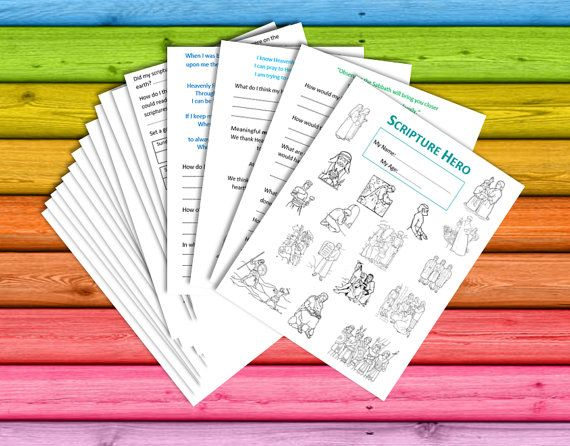 Scripture HERO Book  INSTANT DOWNLOAD children by ElephantEdge