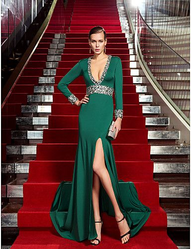 Sheath / Column Celebrity Style Formal Evening Dress ...
