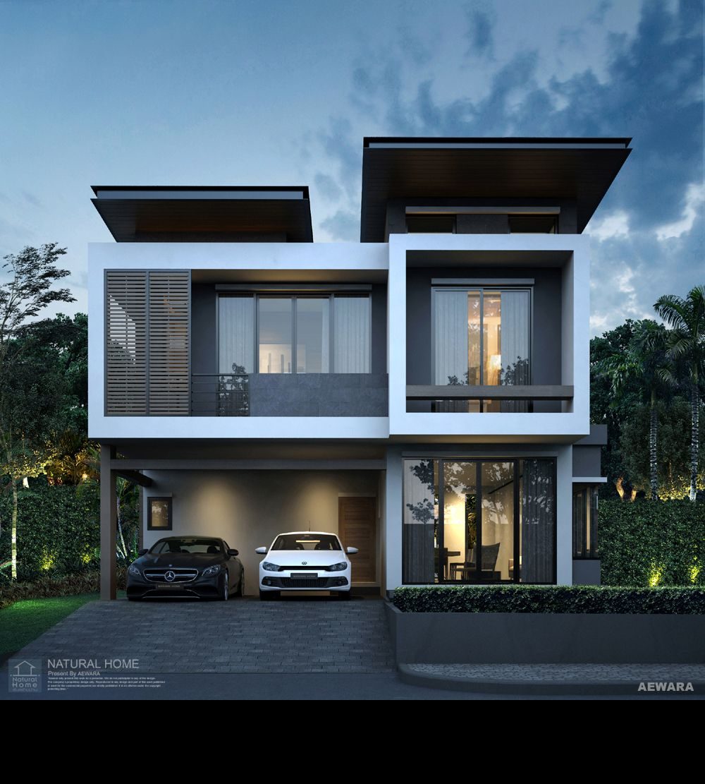Modern Zen House Designs With Interior And Exterior: 3D Perspective / Aewara Exterior 133