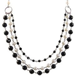Imperial Pearls For You and White 3-strand Freshwater Pearl Necklace