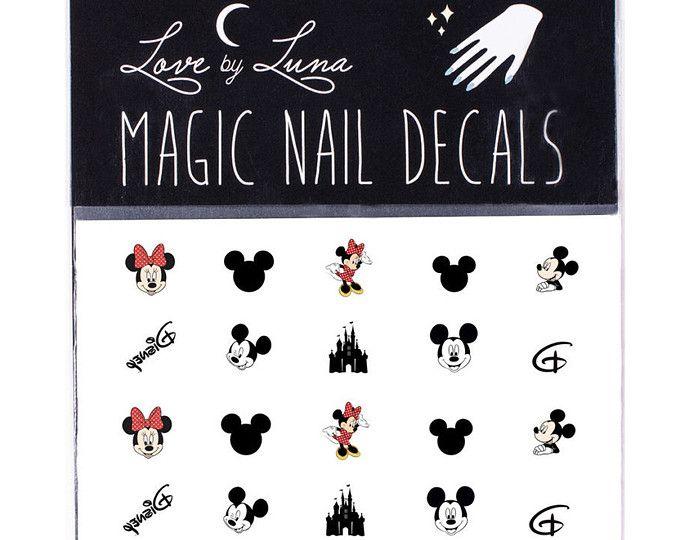 Calcomanías de uñas Disney / uñas Disney Mickey Mouse clavo ...