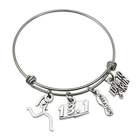 Bracelet Running Jewelry Adjustable Running Charm Bracelet From