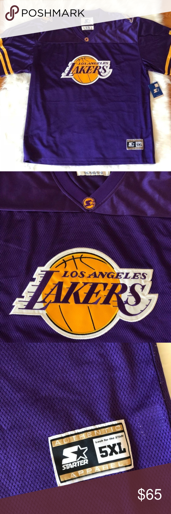 5691fe906  80 NBA Los Angeles Lakers STARTER Football Jersey  80 NBA Los Angeles  Lakers STARTER Los Angeles