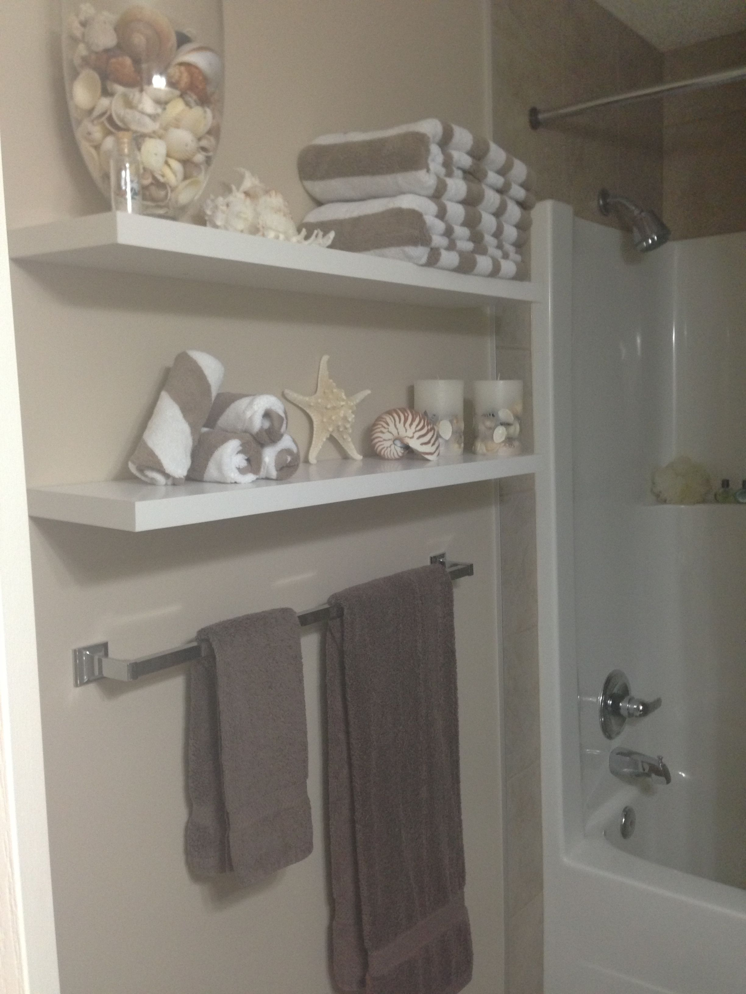 Seashore Bathroom, Shelf For Knick Knacks.