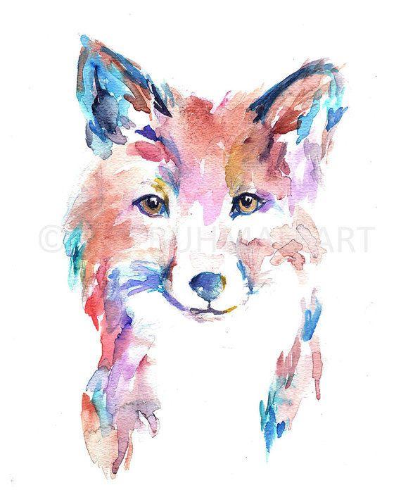 Fox Watercolor Print Farah The Fox By Jess Buhman Poster