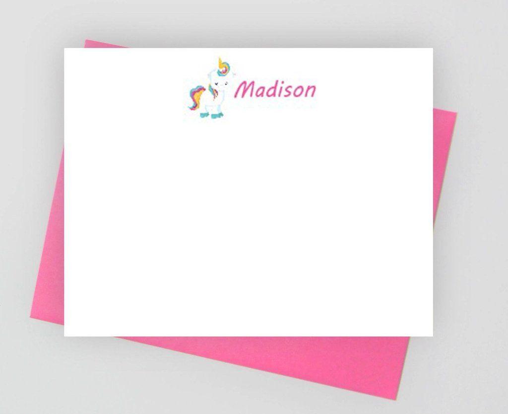 Unicorn Stationery For Girls Unicorn Note Cards For Girls Girls