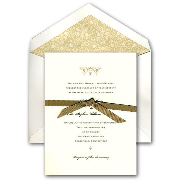 ecru traditional wedding invitations wedding pinterest
