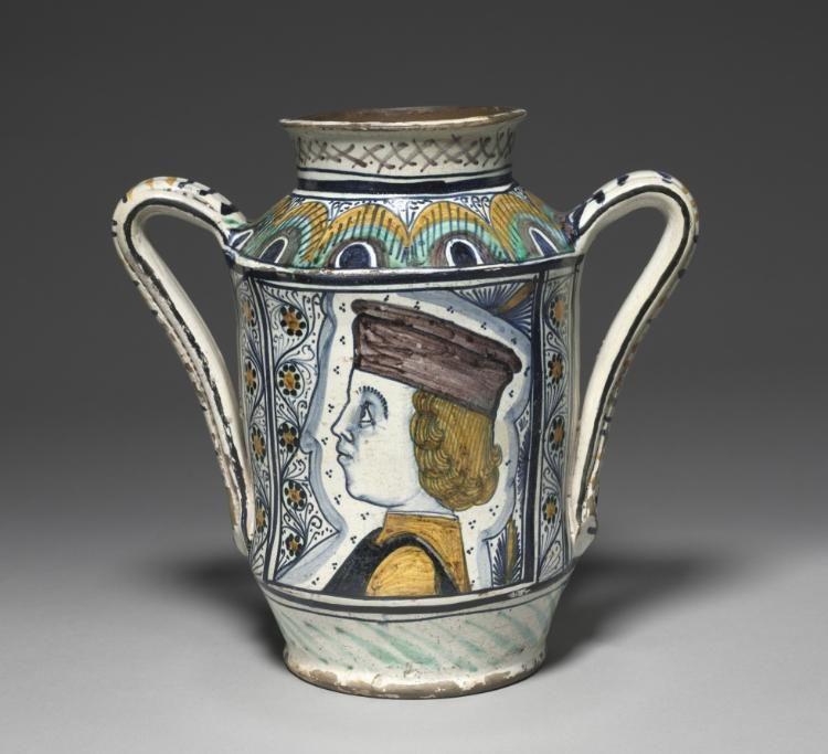 Pharmacy Jar Albarello Renaissance Art Italian Majolica Italian Pottery