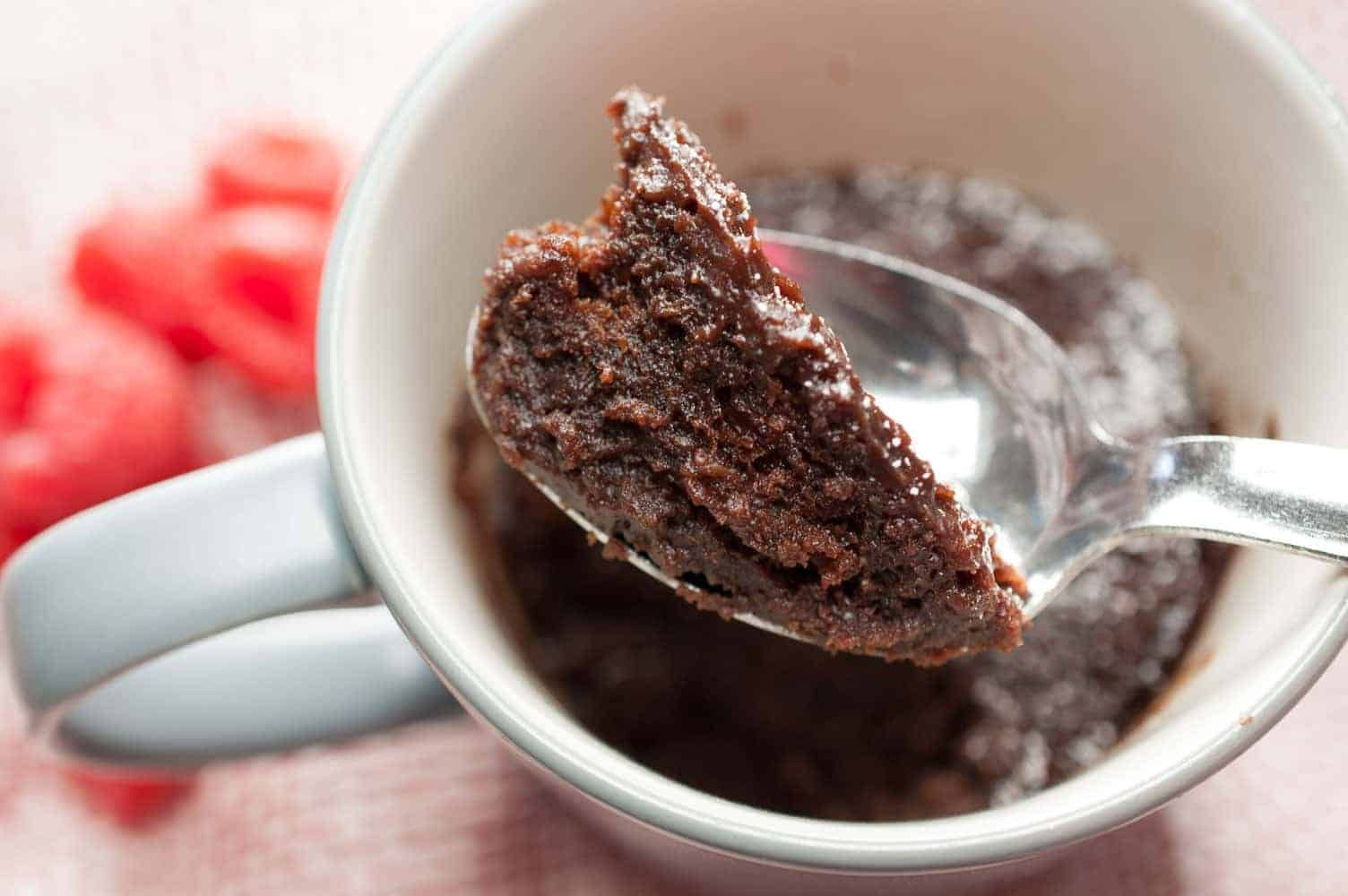 Microwave Eggless Chocolate Mug Cake (Without Butter ...