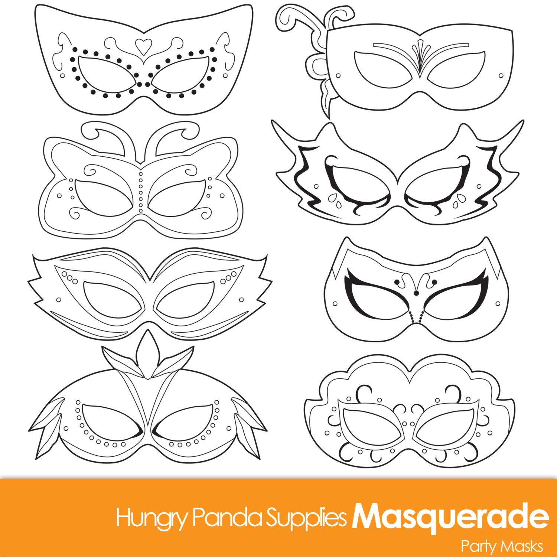 Masquerade Masks, masquerade mask, printable masquerade mask ...