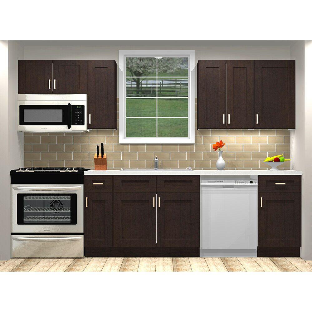 Lily Ann Cabinets Rta 10 Foot Run Birch Wood Kitchen Cabinets Shaker Espresso Kitchen Cabinets Wood Kitchen Cabinets Buy Kitchen Cabinets Kitchen Cabinets