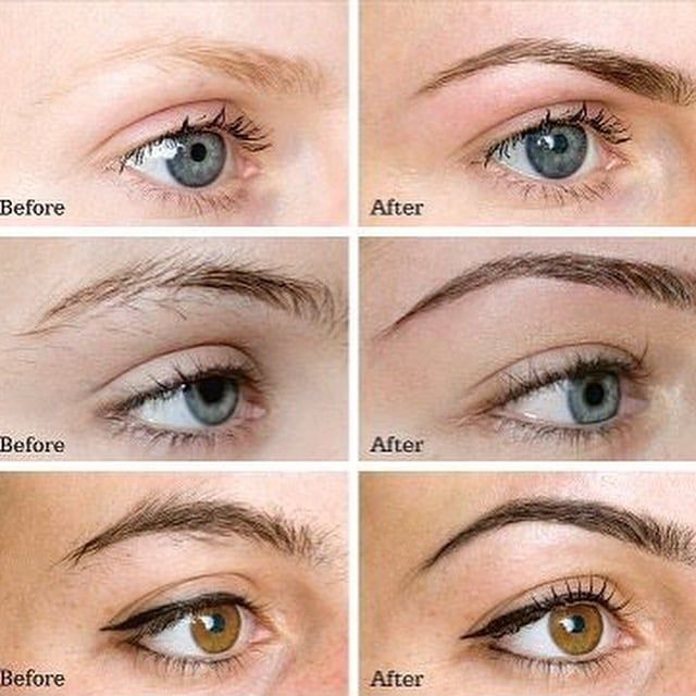 Image result for brow tint before and after   Brow tinting ...