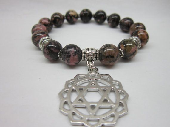 Anahata Heart Chakra Gemstone Bracelet 4th Chakra Bracelet Heart Chakra Meditation Yoga Healing Bracelet Anahata Heart Chakra Charm Bracelet