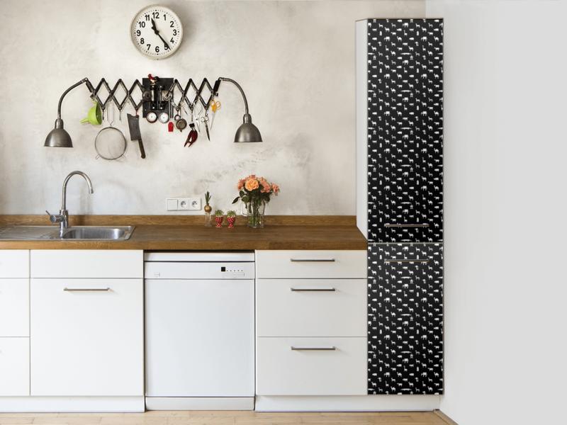 Küchenfolie Hochschrank - Pixel Safari | Küche folieren, Küchenfolie ...