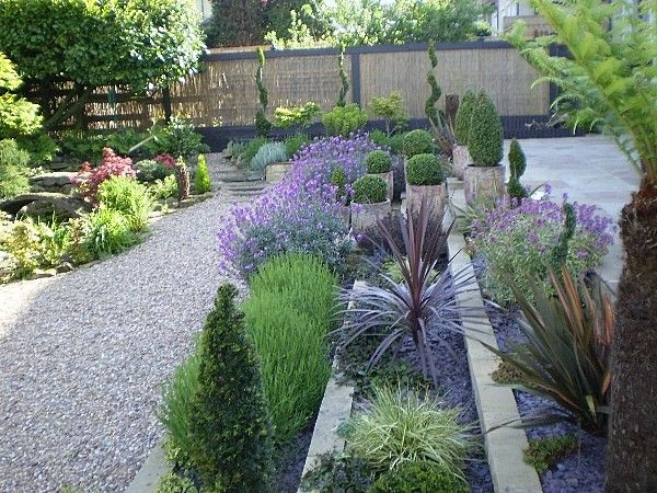 Small Garden Design Ideas Terrace Flower Beds Gravel Sculptured Plants