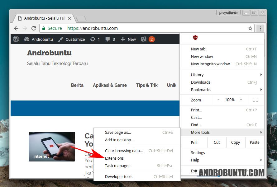 Cara Mengaktifkan Ekstensi Chrome Di Mode Incognito Teknologi Tahu Aplikasi